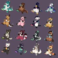 Plush Pile pt2 [PWYW Adopts - Open!] 3 left! by goatlet