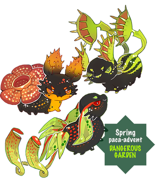 { Spring Paca-advent Day 3 } Dangerous Garden! by Zoomutt