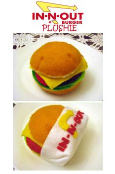 IN-N-OUT burger plushie by uglykat
