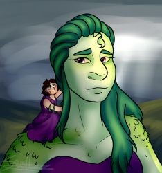 Grassi the giant and her child tomi by thedutchbrony