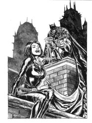 Batman and Catwoman, private commission. by StazJohnson