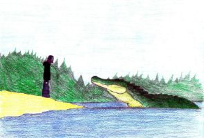 the Lake Monster by invaderTRIPP666