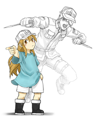 Platelet and White Blood Cell by TheFarElo