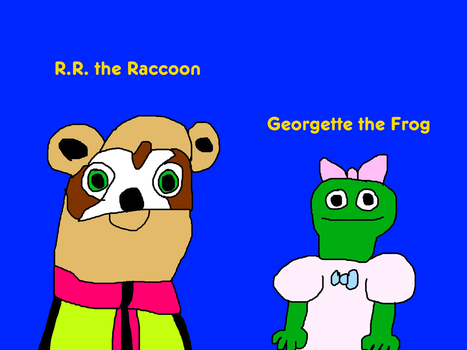 R.R. the Raccoon and Georgette the Frog by MikeJEddyNSGamer89