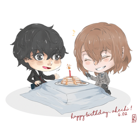 Persona 5 : Happy birthday, Akechi Goro! by nyaaati