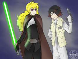 RWBY - Yang Skywalker + Ruby Organa by Lightning-in-my-Hand