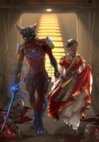 [commission]Excalibur and his operator by lotushim554