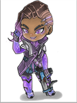 comission - Sombra Overwatch by tizyizumy2013