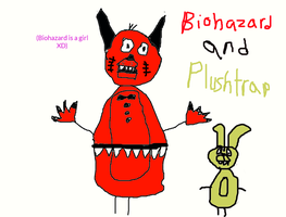 Biohazard and Plushtrap (Might remove soon) by FNAFArtCreator