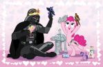 Pinkie and Vader Play-Date by SapphireGamgee