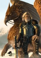 Dragon Chronicles - Gryphon and Rider by RobertCrescenzio