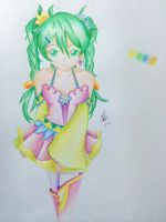 Miku colored by colourfull-book