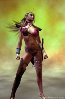 3D Warrior Girl Stand by CiLiNDr0