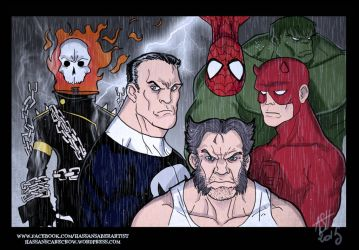 Marvel badasses by scarecrowhassan
