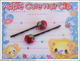 Apple Cute Hair Clip by AyumiDesign