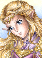 ACEO: Princess of Hyrule by Rooro22