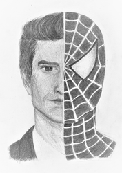 Spiderman (Andrew Garfield) by RebeccaGriffithsArt