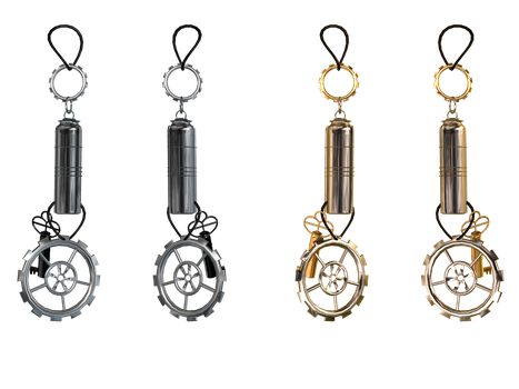 Steampunk Earrings PNG Stock by Roy3D