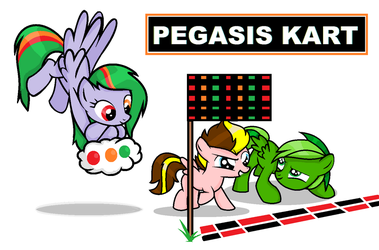MLP slime and buttons pegasis kart by Basket-Studios-Art