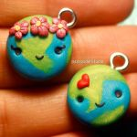 Kawaii Earth Charms by LizClaudia