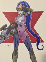 Widowmaker from Overwatch by amonkeyonacid