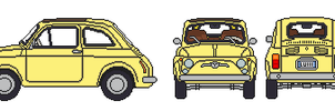 Lupin III's Fiat 500 by penguintruth