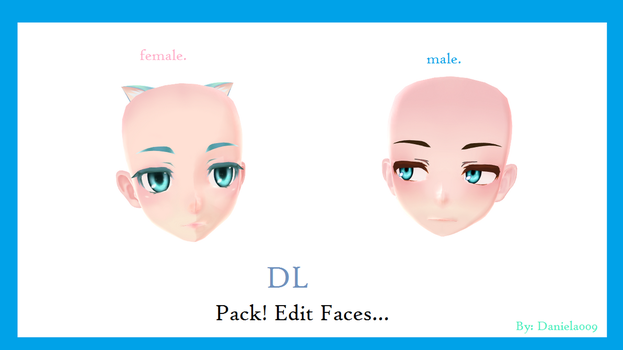 TDA Male and Female Faces Edits by Daniela009