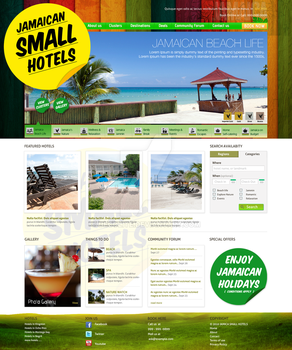 Jamaican small hotels by decolite