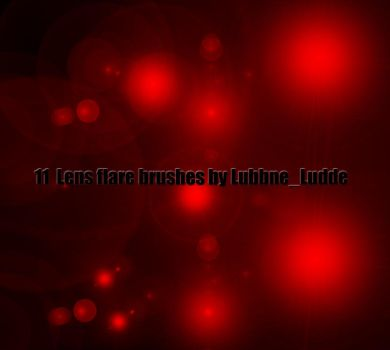 11 Lens Flare Brushes by LubbneLudde