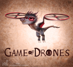 Daily Painting 1729# Game of Drones by Cryptid-Creations