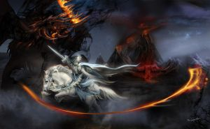 Feanor VS Gothmog, Lord of Balrogs by bobgreyvenstein