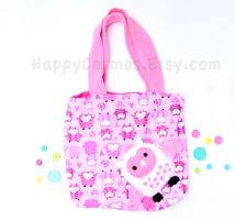 Pink Owl Tote by CosmiCosmos