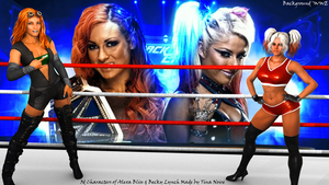 Becky Lynch and Alexa Bliss by TNoire