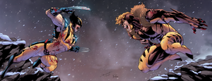 Wolverine VS Sabretooth by Furlani