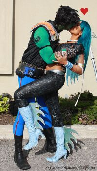 ReBoot cosplay: Matrix and AndrAIa Kiss by Koria-paws