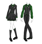 Uniform: Slytherin by KaoticDragonFlyer