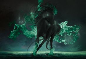 The Horse of Death by Almerious