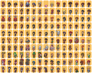 150 Characters for my webcomic Hero Oh Hero by Neoriceisgood
