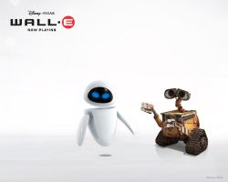 WALL-E and EVE Wallpaper by Talik13