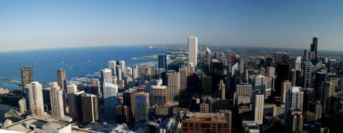 Over Chicago by geolio