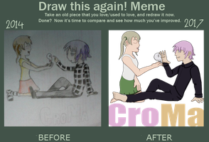 Before and after meme Crona by Shayminskyforme64