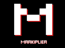 White and Red Markiplier Logo by Creepypasta81691
