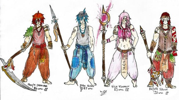 Lord of Elements characters. by Dan-Snogard