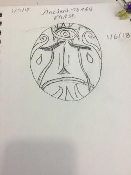 Ancient Toran Mourning Mask by MoonRaiserDragon