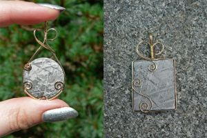 Earth and Sky Pendants by magpie-poet