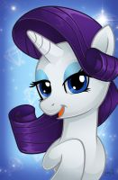 MLP Portrait Series: Rarity by ArtistChristaD