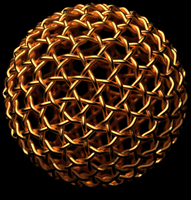 Geodesic Ball - Gold Weave by TaffGoch
