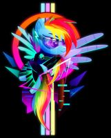 Synthwave Rainbow Dash by II-Art