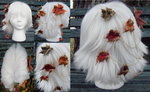 Autumn Changes Leather Leaf Head Piece by Arexandria