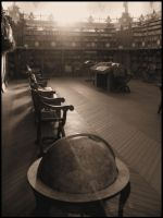 Ancient Library by Debbysh
